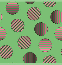 Memphis seamless pattern with striped mosaic vector
