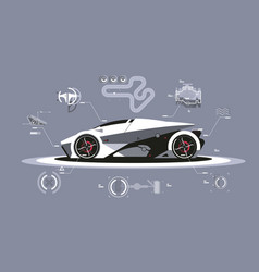 modern car technology vector image