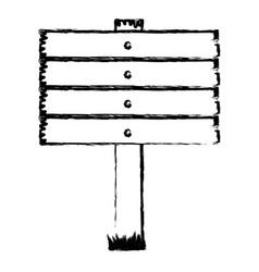monochrome blurred silhouette of wooden board vector image