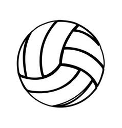 Monochrome contour of volleyball ball vector