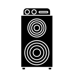 music speaker device vector image