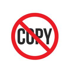 No copy sign vector