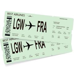 Pattern of green boarding pass vector