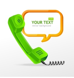 phone receiver as text box vector image
