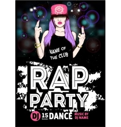 Rap Party poster vector