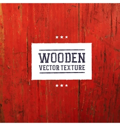 red painted wooden texture vector image