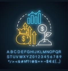 Revenue generation neon light concept icon vector