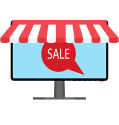 Sale tag online store vector image