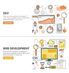 Search Engine Optimization and Web development vector