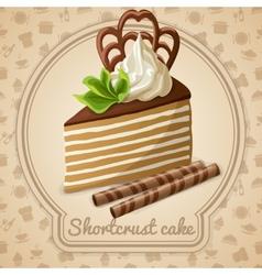 Shortcrust cake label vector