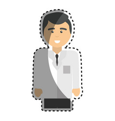 specialist professional doctor with uniform vector image