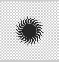 Sun icon isolated on transparent background vector