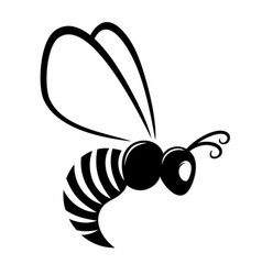 Symbol flying wasp vector