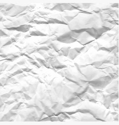 texture of crumpled white paper vector image