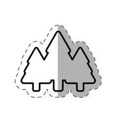 tree pine christmas ornament line vector image