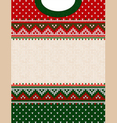ugly sweater merry christmas ornament vector image