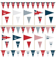 Uk party flags vector