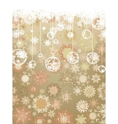 Vintage Christmas card EPS 8 vector image
