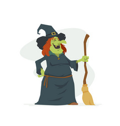 witch - modern cartoon people characters isolated vector image