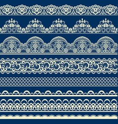 seamless lace border vector image