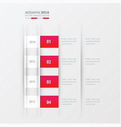 timeline design design pink gradient color vector image vector image