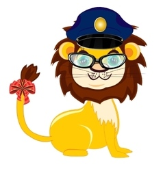 Animal lion police vector image vector image