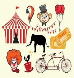 cirkus elements vector image vector image