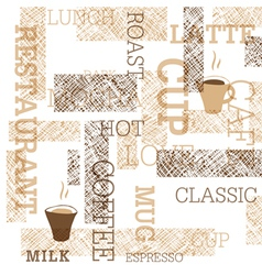 coffee themed seamless background vector image vector image
