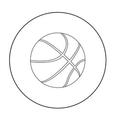 basketball icon outline single sport icon from vector image vector image