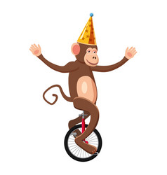 Circus monkey icon cartoon style vector