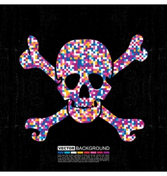 Colorful skull vector image