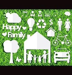 happy family ideas concept vector image