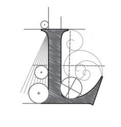 l vector image vector image