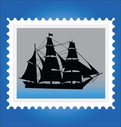 Postage stamps with ships vector image vector image