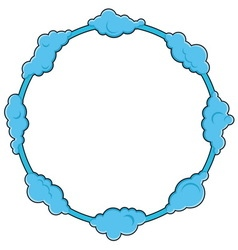 Round frame consists of clouds vector image vector image