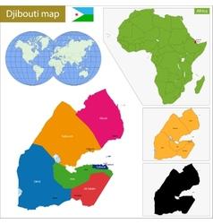 Djibouti map vector