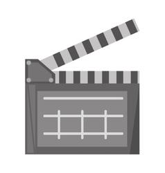 film clapper chalkboard scene icon vector image