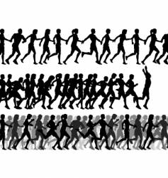 foreground runners vector image vector image
