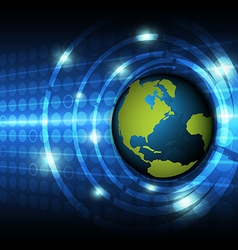 global technology concept background vector image vector image