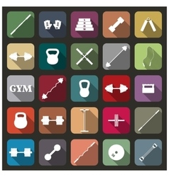 Icons equipment for the gym vector image