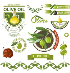 olives emblems vector image vector image