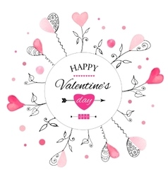 Postcard for Valentine s day vector image