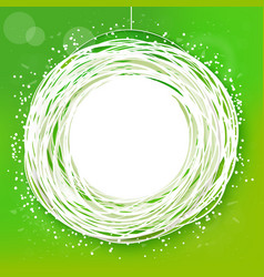 Sketched sunny green abstract label vector