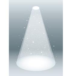 snow falling in spotlight vector image