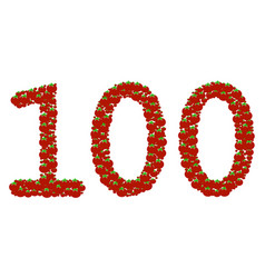100 text composition of tomato vector image