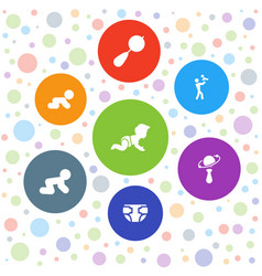7 infant icons vector