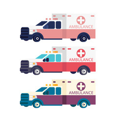 ambulance machine flat vector image