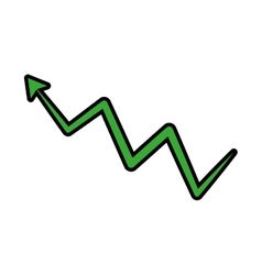 arrow green growth direction icon graphic vector image