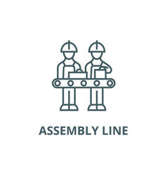 Assembly line line icon assembly line vector