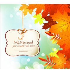 Autumn festive background vector